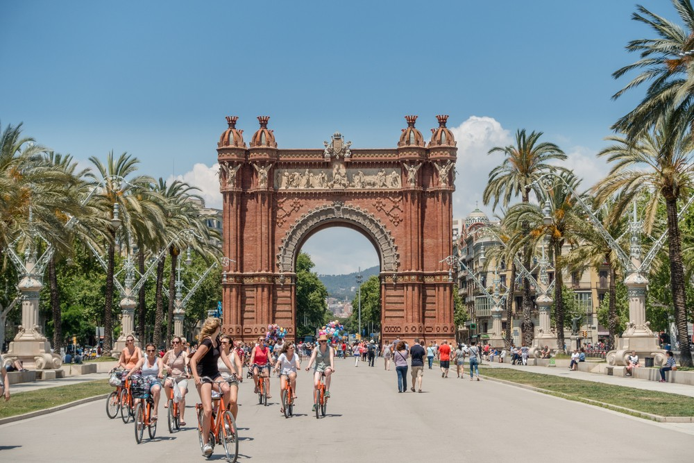 Cyclists in Barcelona