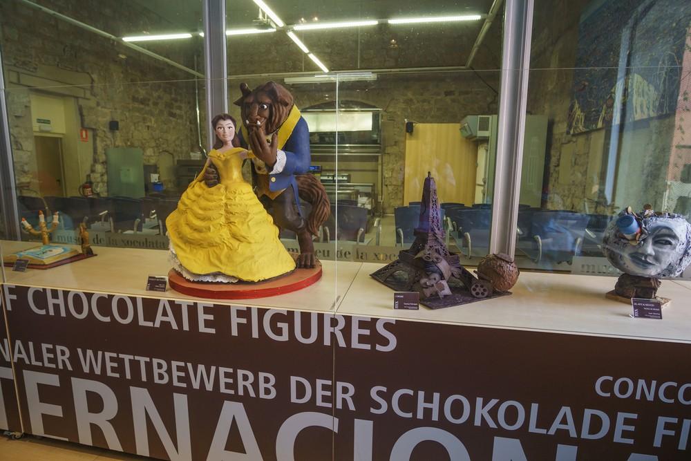 Everything's made of chocolate at the Museu de la Xocolata de Barcelona.