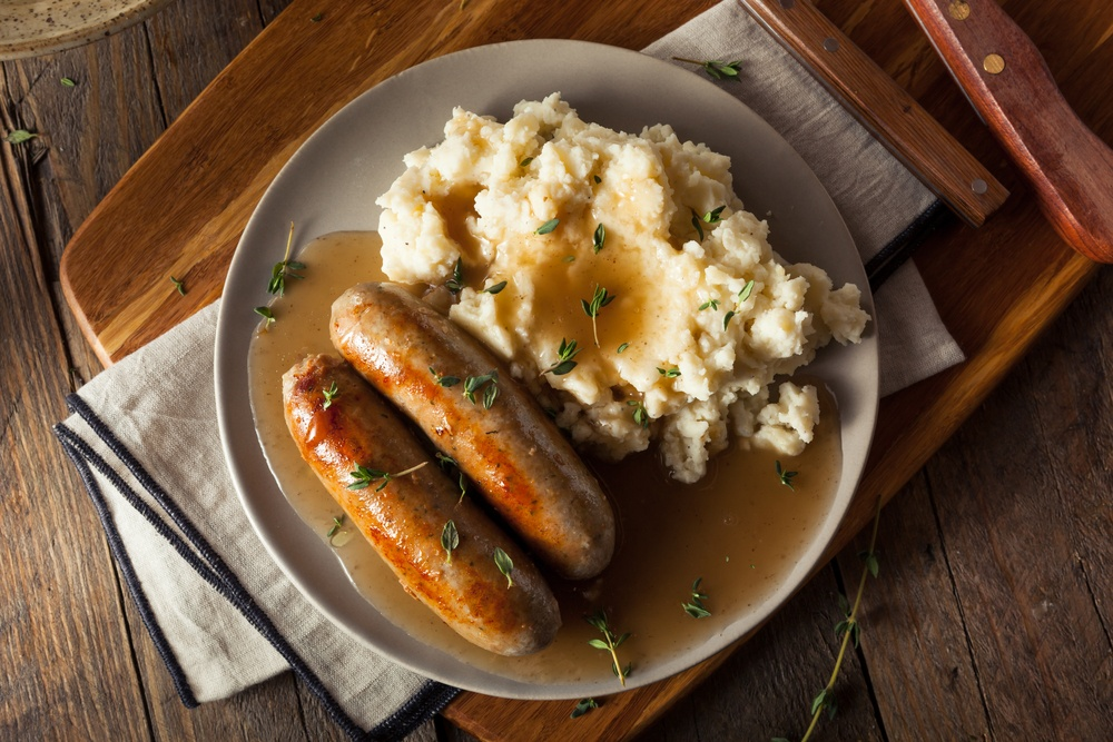 Sausage and mash - eat in London