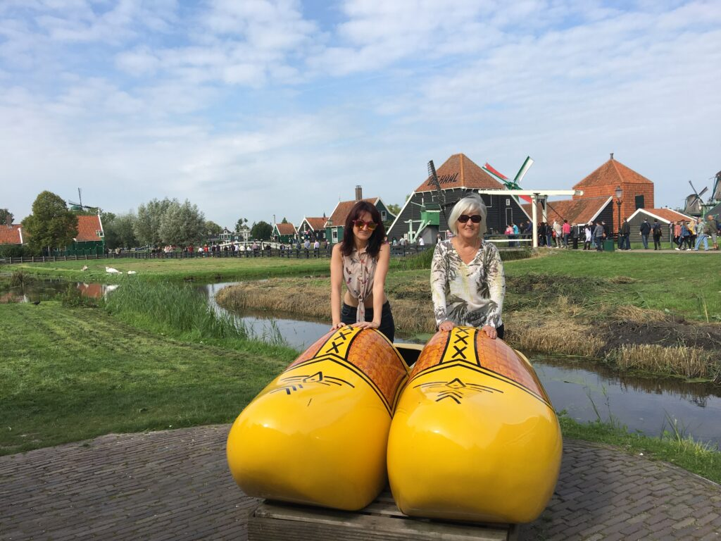 Giant clogs in Amsterdam, Holland