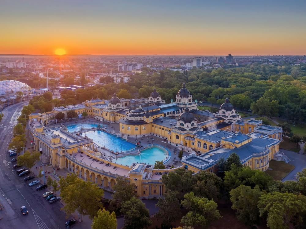 Széchenyi Baths in Budapest, Hungary