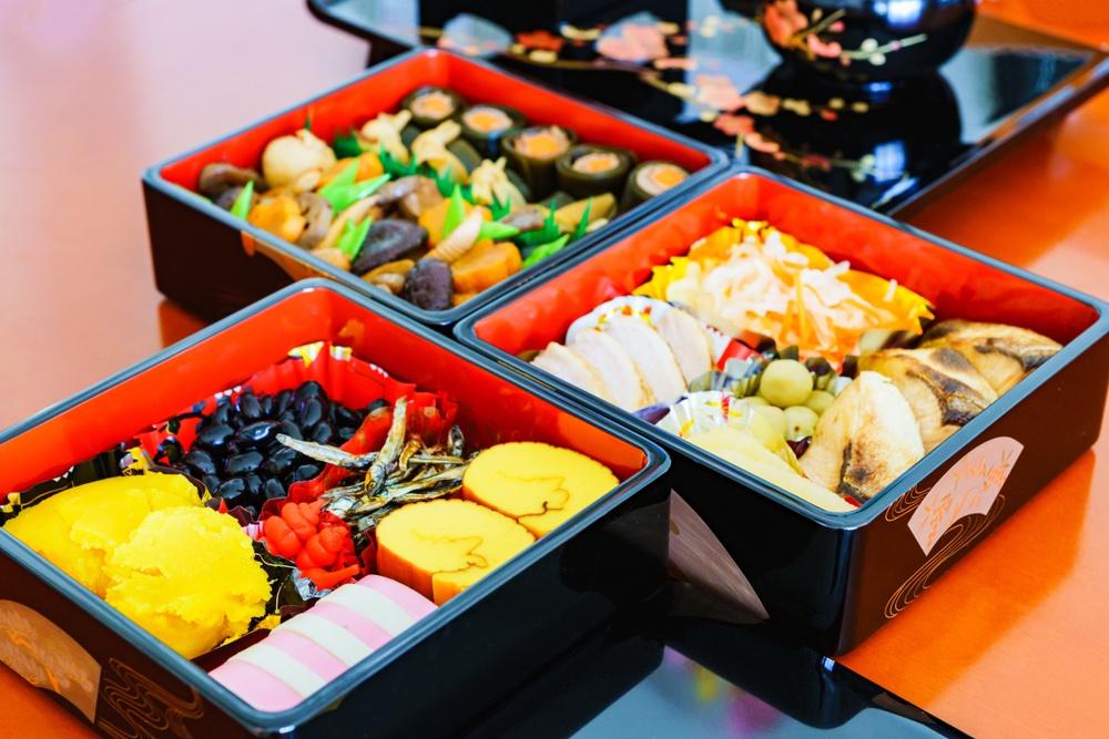Traditional Japanese New Year's food, called osechi ryori