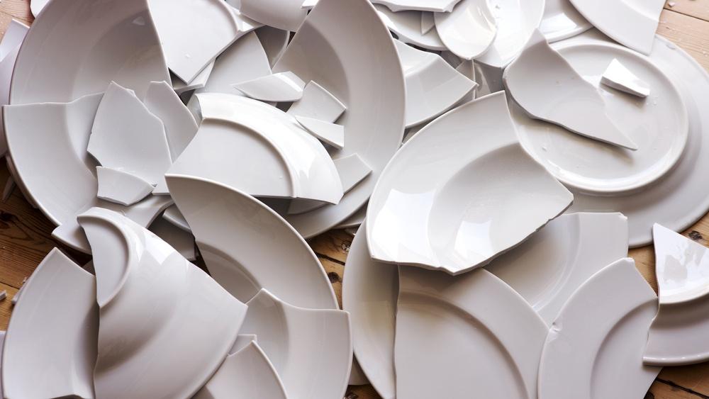 Broken plates for Danish New Year
