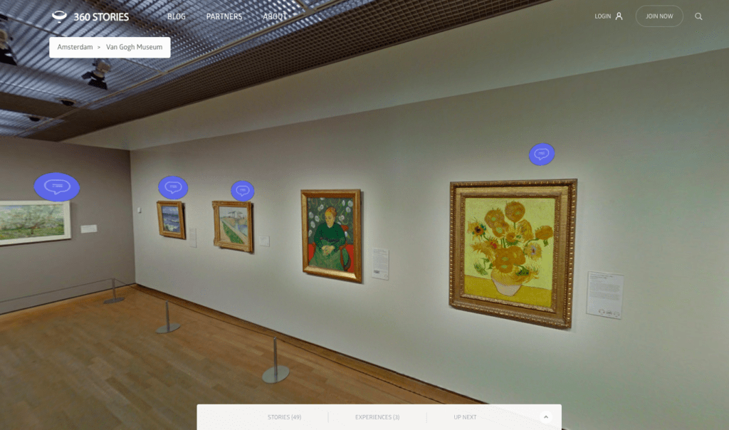 Take a 3D virtual tour of the van Gogh Museum.