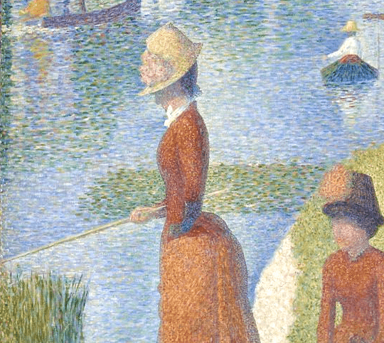 Close up of Seurat's A Sunday on La Grande Jatte