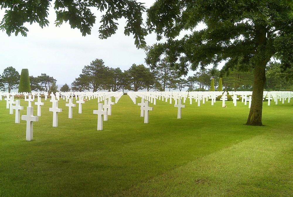 Graves of fallen soldiers at Caen.