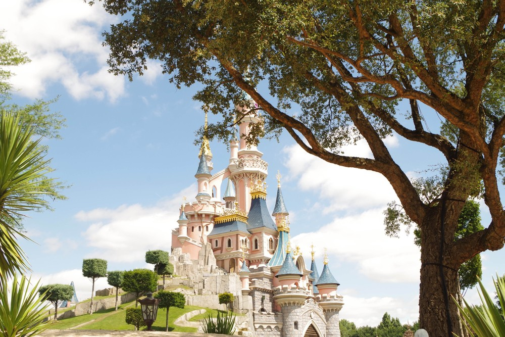 The iconic palace at Disneyland Paris, a bucket list item for kids all over the world.