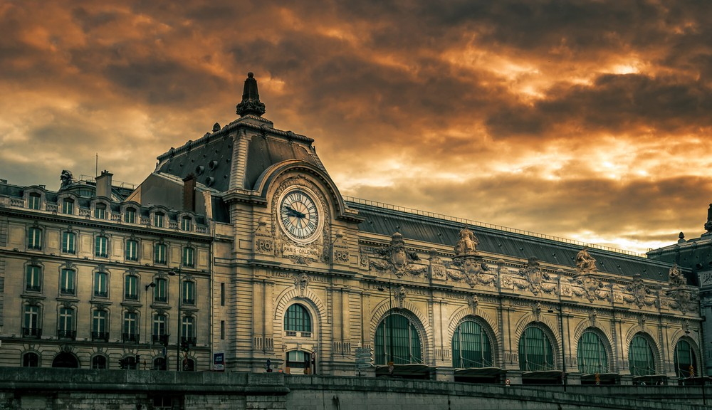 Outside view of the Musée d'Orsay, a famous museum in Paris.