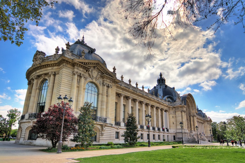 An outside view of the Petit Palais in Paris.