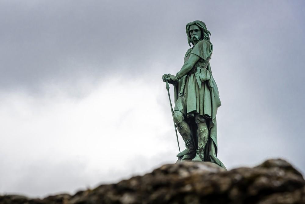 A statue of an ancient Gaul warrior.