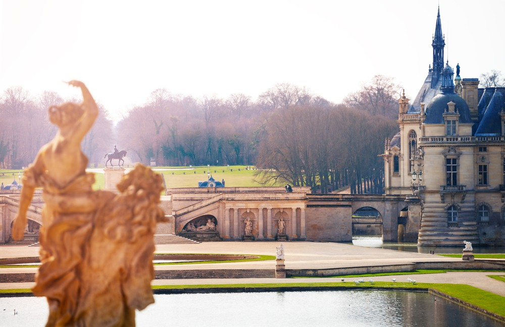 A peaceful scene at the Domaine de Chantilly.