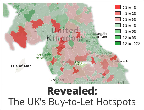 Map Of Uk To Buy.Buy To Let Hotspots 2016 In The Uk Revealed In Totally Money S Map