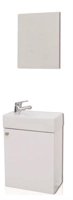 Piccolo 40 hvit høyglans,møbelsett m/speil