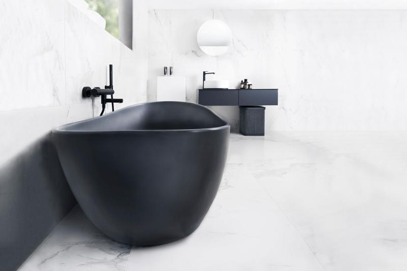 Viena Svart frittstående 164x85 badekar