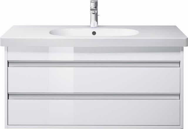 Ketho 1000 x 455 mm, hvit høyglans