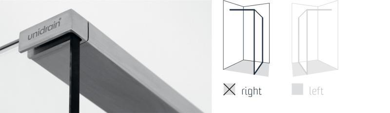 Toppstang Børstet stål til GlassLine