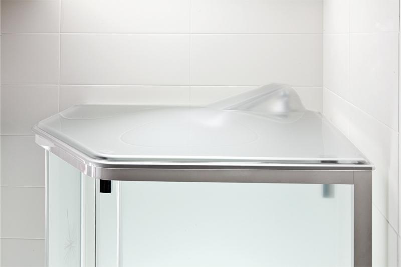 Porsgrund Showerama damphette, 100x100 cm