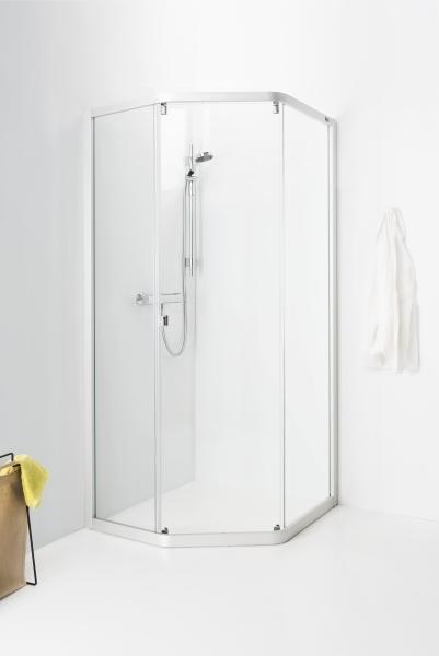 Porsgrund Showerama 8-3 m/profiler, 90x90 cm