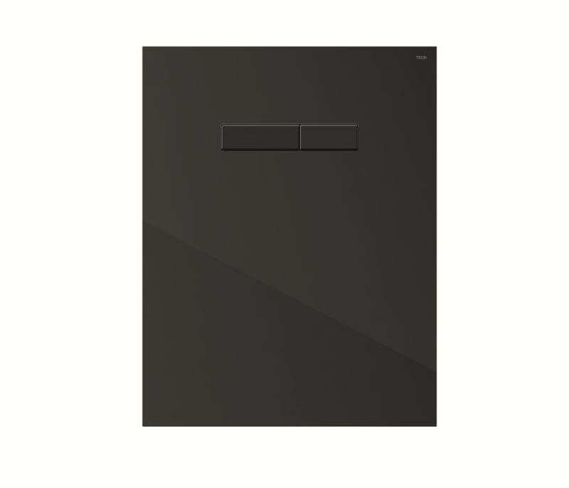 TECElux betjeningspanel sorte knapper, sort glass