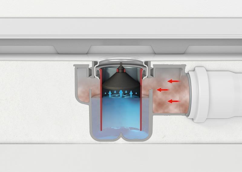 TECEdrainline vannlås med luktsperre for normalt sluk