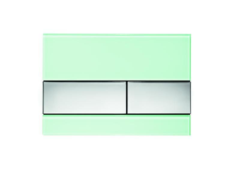 TECEsquare, mintgrønt glass/ knapper forkrommet