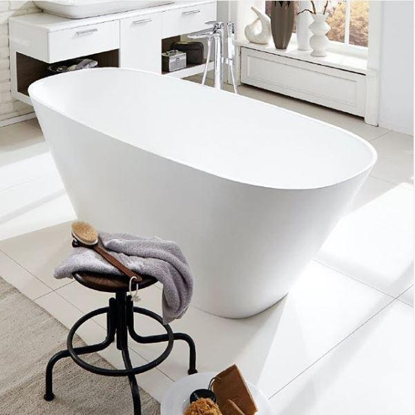 White Ovalt 180x80cm