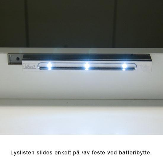 VikingBad LED lyslist for skuff