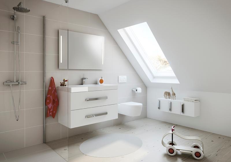 Grethe minibad i kvit matt 100 cm