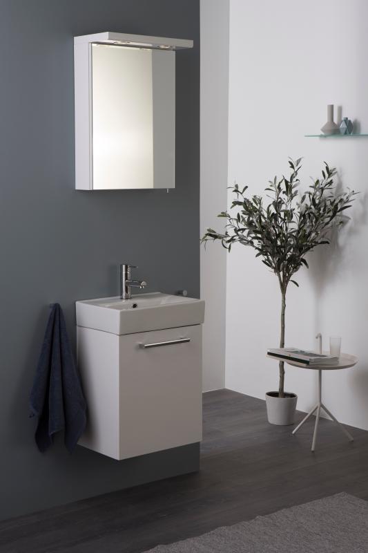 Quadro møblepakke 3-i-1 45 cm hvit