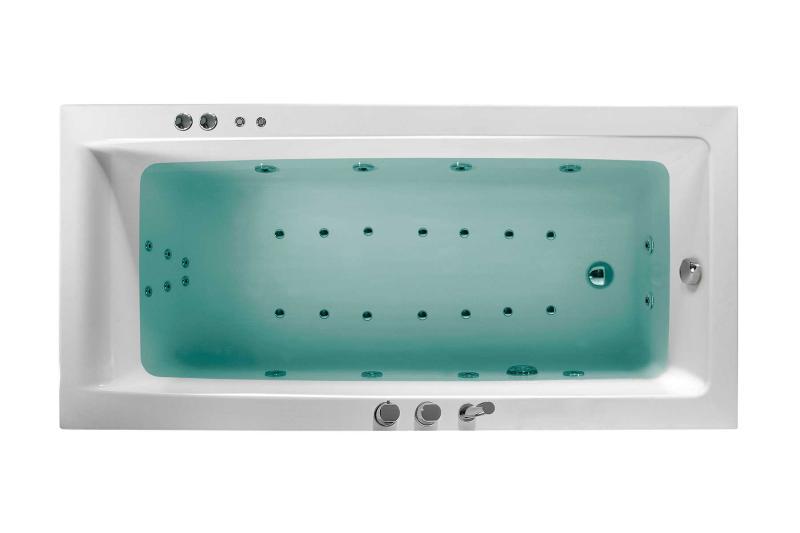 Nemo 170x80 badekar + Velværepakke Design