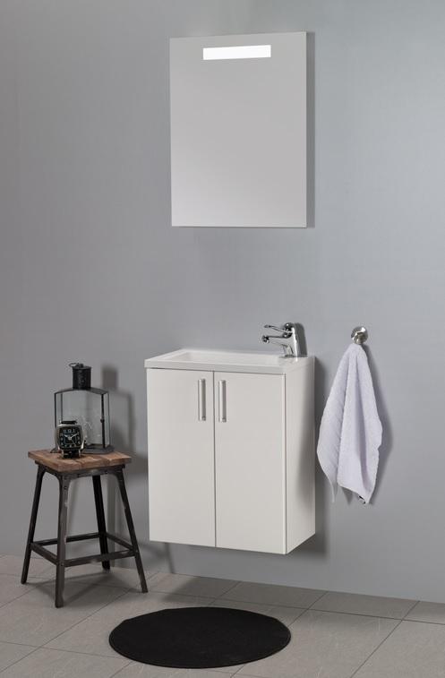 Vita rett hvit matt 50 cm