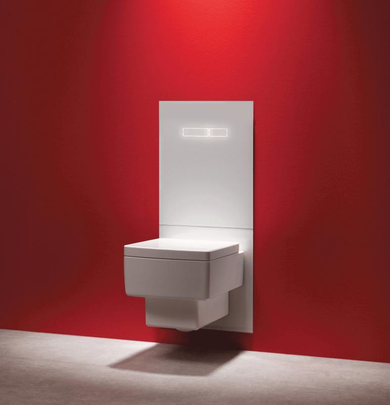 """TECElux 100 WC Terminal med """"sen-Touch"""" hvit glassplate"""