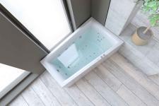 Nemo 160x100/70 badekar + Velværepakke Design, høyre