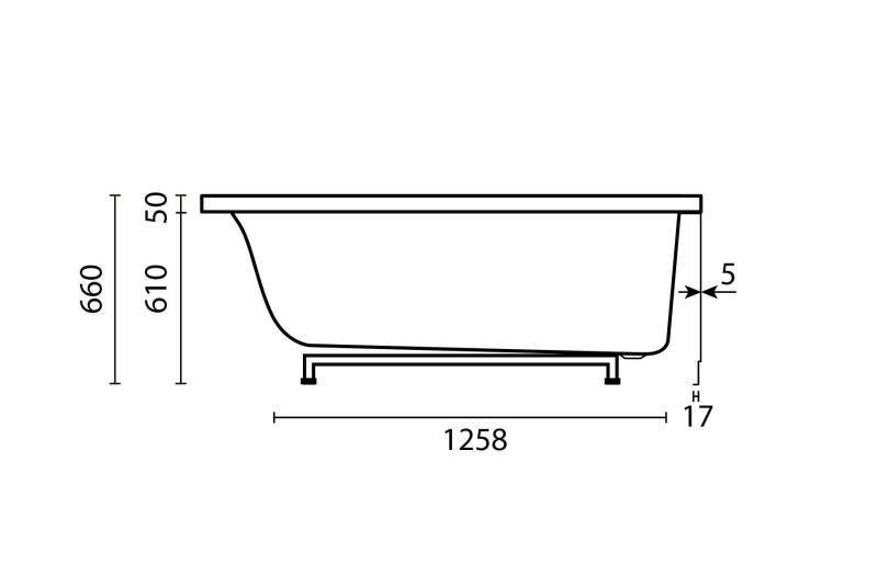 Nemo 160x100/70 badekar + Velværepakke Design, venstre