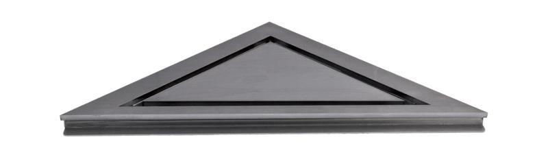 HighLine hjørne Børstet stål inkl ramme H 10 mm