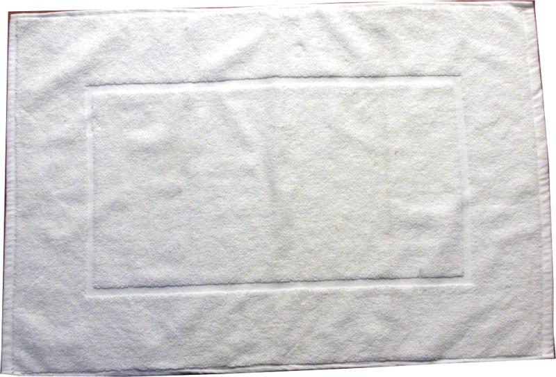 Badematte lux bomull 50*75 cm hvit