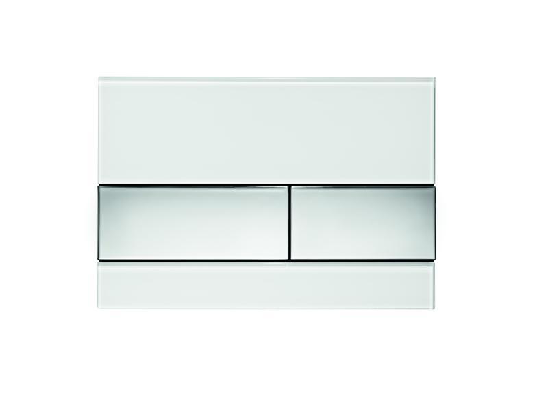 TECEsquare, hvitt glass/ knapper forkrommet