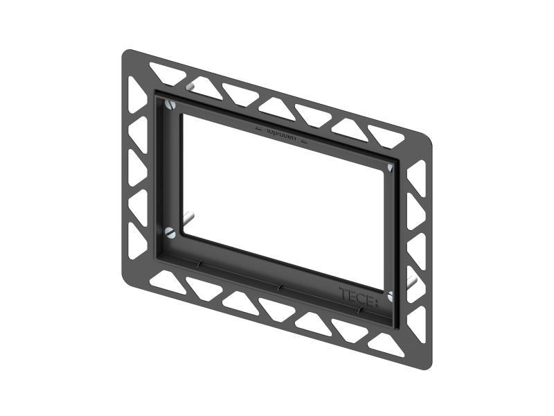 TECE Installasjonsramme for montasje i flukt med vegg, sort