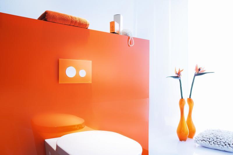 TECEloop oransje glassplate,hvite knapper