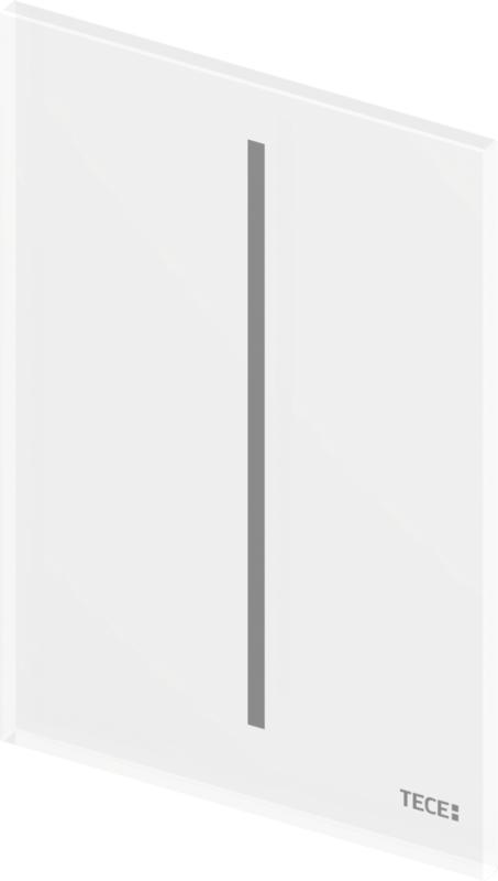 TECEfilo urinal betjeningsplate, hvitt glass