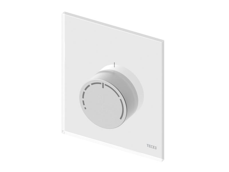 TECEfloor design RTL betjeningspanel hvit glass og aluminium