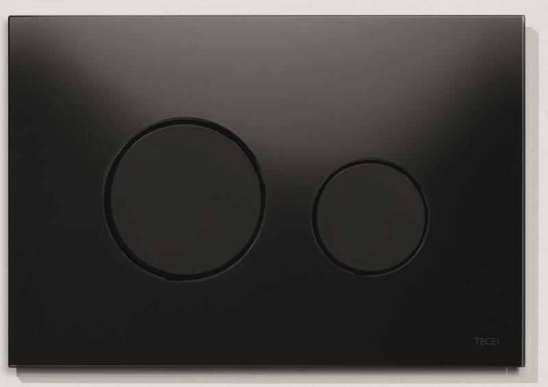 TECEloop sort glass/sorte knapper