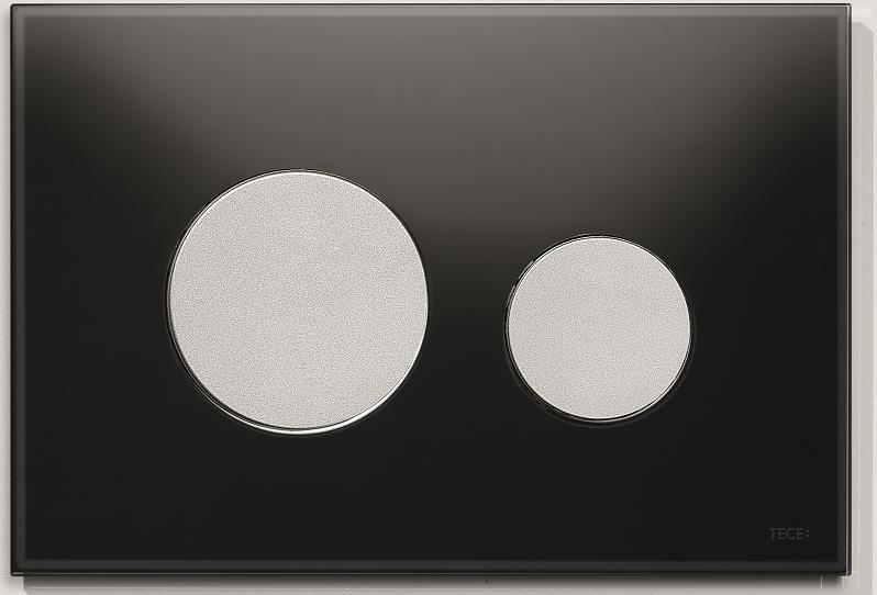 TECEloop svart glass og knapper i matt krom