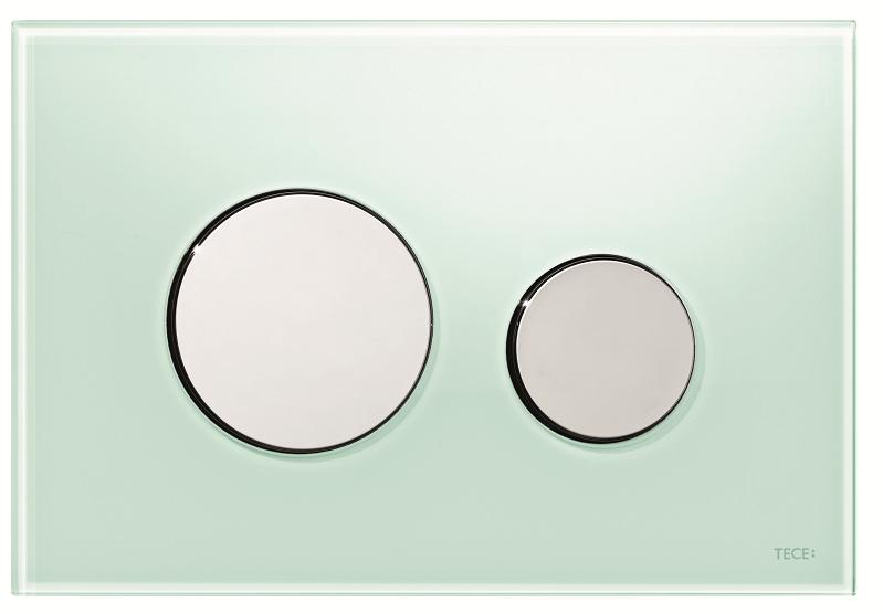 TECEloop grønt glass/forkrommet