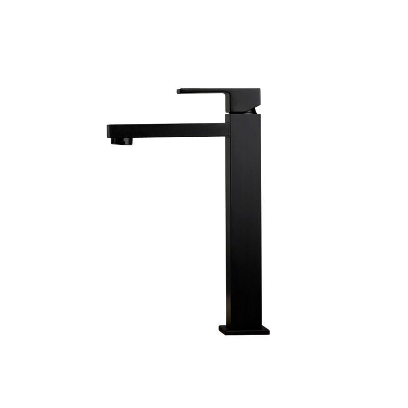 Ergo-Q servantkran firkantet høy, matt sort