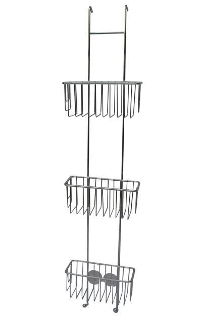 Kabina 3 hyller 18/8 høyglans smal.