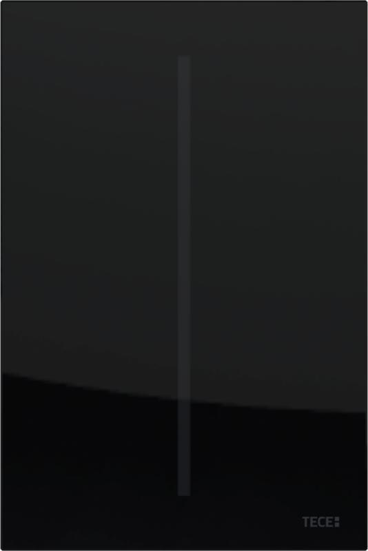 TECEfilo urinal betjeningsplate, sort glass
