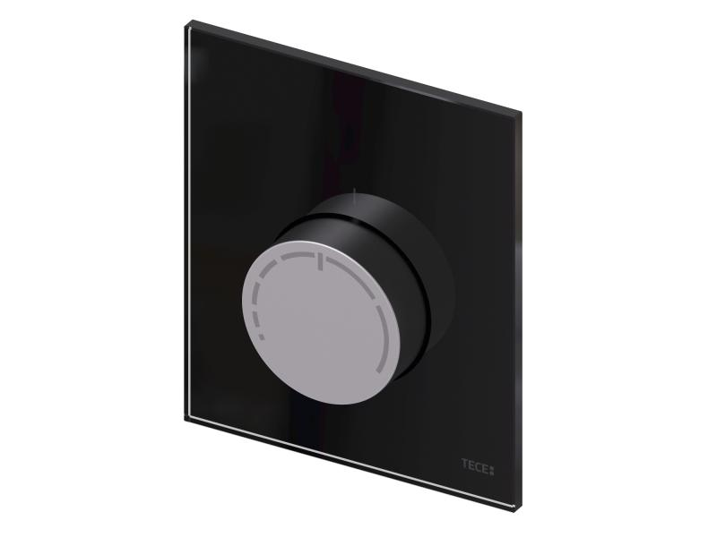 TECEfloor design RTL betjeningspanel sort i glass og aluminium