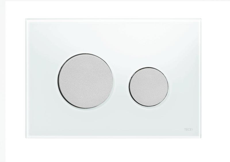 TECEloop, hvitt glass/knapper i matt krom