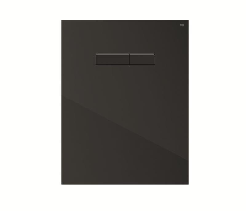 TECElux betjeningspanel forkrommede knapper, sort glass